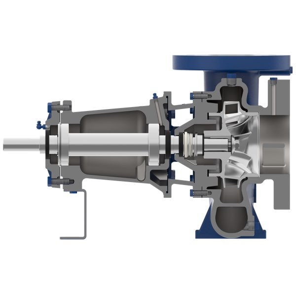 Aurora pump model 3804 cutaway, end suction pump