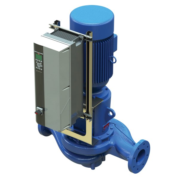 Aurora pump 380 series vertical inline pump with variable frequency drive