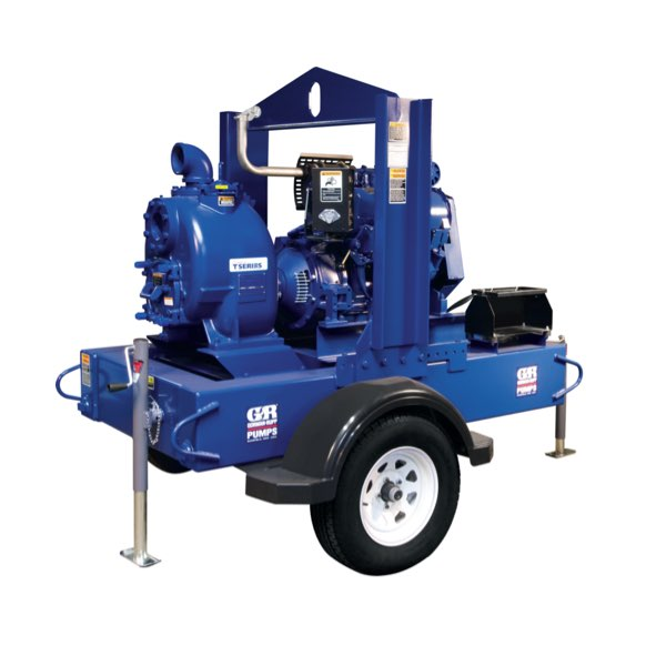 Gorman-Rupp's Super T Series® portable engine-driven self-priming centrifugal pumps are designed to reprime automatically in a completely open system - without a need for suction or discharge check valves.